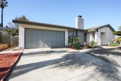 Escondido Single Family Home For Sale: 641 Overlook St