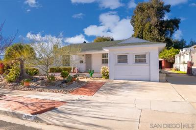 San Diego Single Family Home For Sale: 4886 Twain Ave