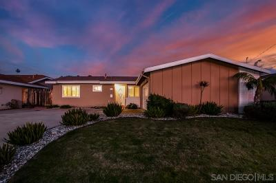 San Diego Single Family Home For Sale: 3833 Cameo Ln