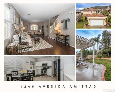 San Marcos Single Family Home For Sale: 1246 Avenida Amistad
