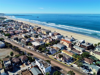 Pacific Beach, Mission Beach Multi Family 2-4 For Sale: 3364/70 Mission Blvd