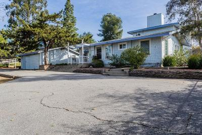 Fallbrook Single Family Home For Sale: 2525 Yesteryear Ln