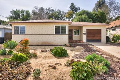 La Mesa Single Family Home For Sale: 3232 Par Dr