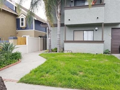 San Diego Attached Back On Market: 4642 Felton Street #1