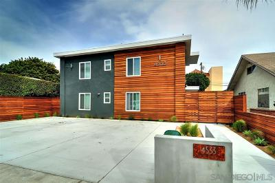 San Diego Multi Family 5+ For Sale: 4533 North Avenue