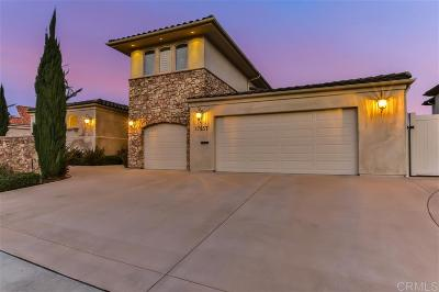 Single Family Home For Sale: 17857 Corazon Place
