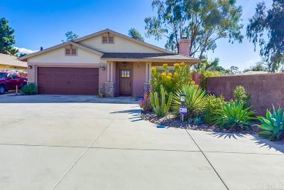 el cajon Single Family Home For Sale: 1241 Peach Ave