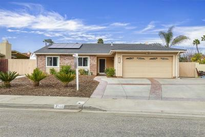 Escondido Single Family Home For Sale: 2139 Habero Drive