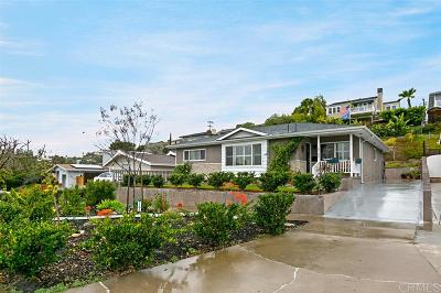 San Diego Single Family Home For Sale: 5163 Foothill Blvd