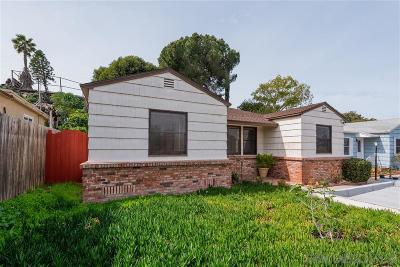 La Mesa Single Family Home For Sale: 4150 Lois St