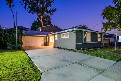 San Diego Single Family Home For Sale: 8434 Lake Gaby Ave