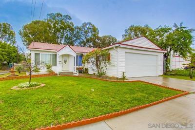 San Diego Single Family Home For Sale: 623 Omeara Street