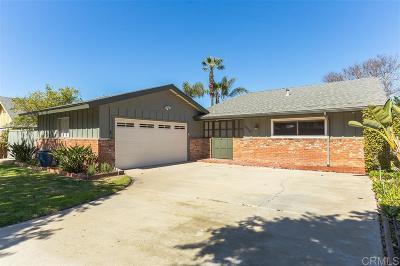 Oceanside Single Family Home For Sale: 4020 Via Serra