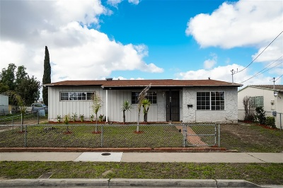 San Diego Single Family Home For Sale: 824 Bonsall St