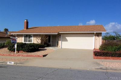 Escondido Single Family Home For Sale: 634 Highland Street