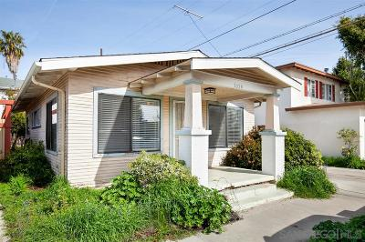 North Park, North Park - San Diego, North Park Bordering South Park, North Park, Kenningston, North Park/City Heights Single Family Home For Sale: 3034 Myrtle Avenue