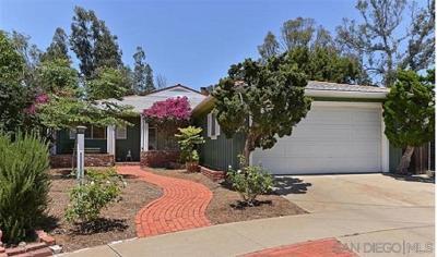 San Diego Single Family Home For Sale: 5146 Gary Street