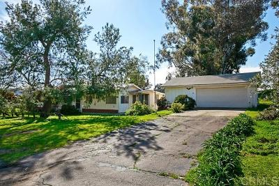 San Diego County Single Family Home For Sale: 1146 Creelman Lane