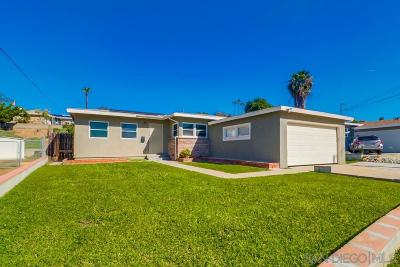 San Diego Single Family Home For Sale: 5222 Reynolds St.