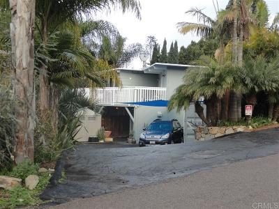 Encinitas Single Family Home For Sale: 1626 Caudor