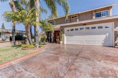 Santee Single Family Home For Sale: 9349 Nalini Ct