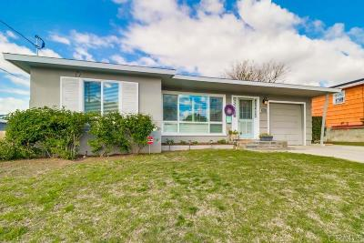 San Diego County Single Family Home For Sale: 4532 Terry Lane