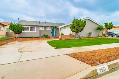 San Diego County Single Family Home For Sale: 8951 Sovereign
