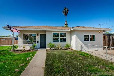 San Diego Single Family Home For Sale: 3430 Tie St