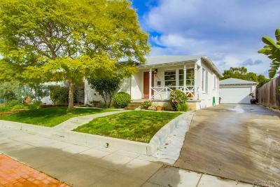 San Diego Single Family Home For Sale: 4659 Aragon Dr