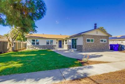 San Diego Single Family Home For Sale: 142 Coolwater Dr