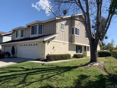 San Diego Townhouse For Sale: 1351 Manzana Way