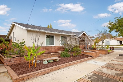 San Diego Single Family Home For Sale: 4384 Mount Castle Ave