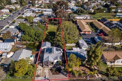 San Diego Single Family Home For Sale: 6728 Solita Avenue
