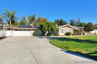 Single Family Home For Sale: 1796 Rancho Cajon Pl