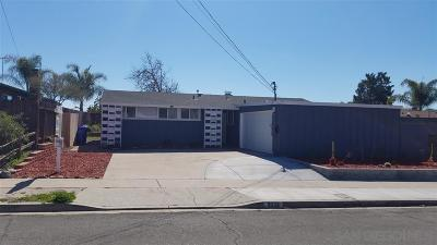 San Diego Single Family Home For Sale: 8339 Tommy Dr