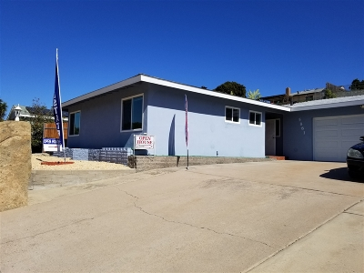 La Mesa Single Family Home For Sale: 5881 Jackson Dr.