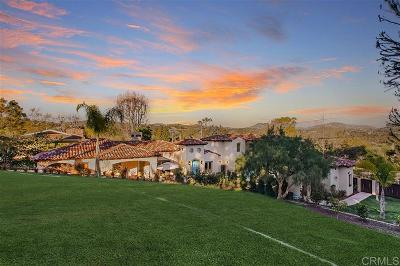 Single Family Home For Sale: 748 Rancho Santa Fe Rd