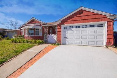 El Cerrito, El Cerrito/West College Single Family Home For Sale: 4844 Atlanta Dr