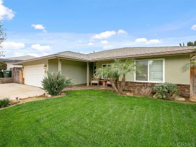 Escondido Single Family Home For Sale: 643 Kimball St