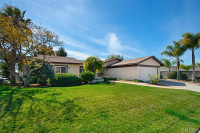 Encinitas Single Family Home Pending: 2015 Shadow Grove