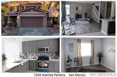 San Marcos Single Family Home Pending: 1344 Avenida Pantera