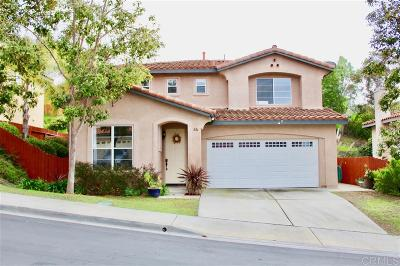 Vista Single Family Home For Sale: 824 Pohl Pl