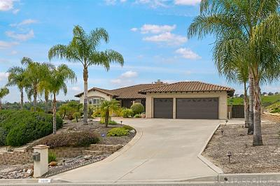 Fallbrook Single Family Home For Sale: 3639 Genista Pl