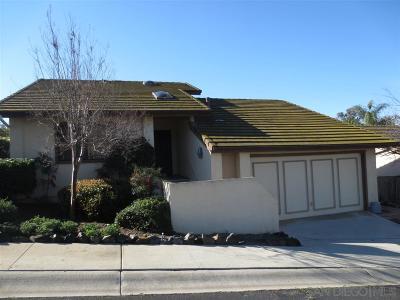 Escondido Single Family Home Sold: 2182 Firethorn Gln
