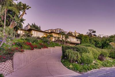 La Jolla Single Family Home For Sale: Muirlands Dr