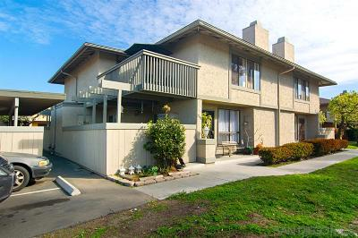Chula Vista Townhouse For Sale: 254 Rancho Dr #B