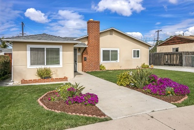 Chula Vista Single Family Home For Sale: 121 Murray St