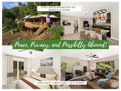 Murrieta, Temecula Single Family Home For Sale: 47751 Rock Mountain Dr