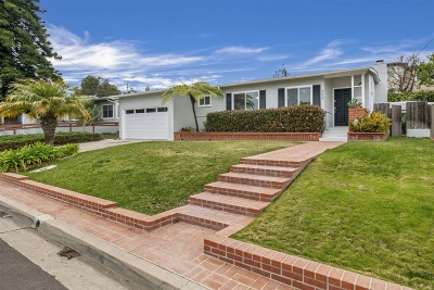 San Diego CA Single Family Home For Sale: $1,249,000