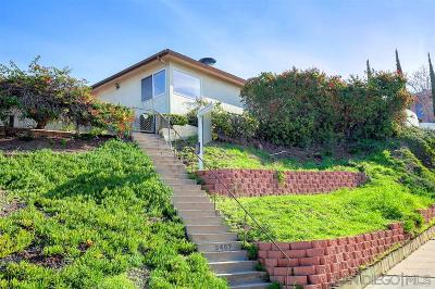 Mission Hills Single Family Home For Sale: 3467 State Street